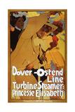 Dover-Ostend Line, Turbine Steamer: Princess Elisabeth Giclee Print by Adolfo Hohenstein