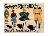 Cycles and Cars Georges Richard Giclee Print by Fernand Fernel