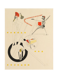 Title Sheet of Victory over the Sun by A. Kruchenykh Giclée-trykk av El Lissitzky