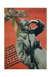 We Will Create a Borderguard Unit Motorised Road Transport Fund Giclee Print by Mikhail Oskarovich Dlugach