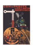 Sleep at Work Helps the Enemies of the Working Class Giclee Print by Boris Vladimirovich Ioganson