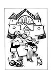 Violinist (Illustration for the Ukrainian Fairytales) Reproduction procédé giclée par El Lissitzky
