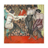 At the Bar Giclee Print by Boris Dmitryevich Grigoriev