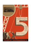 The Five-Year Plan of the Sugar Industry Giclee Print by Dmitry Anatolyevich Bulanov