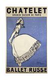 Ballet Dancer Tamara Karsavina. Poster for the Russian Ballet Season in Paris Giclée-Druck von Jean Cocteau