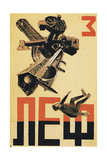 """Cover Design of the Journal of the Left Front of the Arts (""""LEF"""") Giclee Print by Alexander Mikhailovich Rodchenko"""
