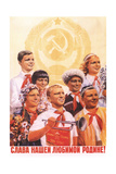 Glory to Our Dear Motherland! Giclee Print by Maria Felixovna Bri-Bein