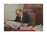 Lenin Reading Pravda Giclee Print by Vsevolod Dmitrievich Medvedev