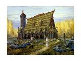 The Temple of Hors, God of Autumn Giclee Print by Vsevolod Borisovich Ivanov