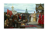 Yermak's Embassy at the Tsar Ivan the Terrible Giclee Print by Sergey Chikunchikov