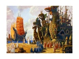 The Fleet of the Hyperboreans Giclee Print by Vsevolod Borisovich Ivanov