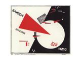 Mit Dem Roten Keil - Schlag Die Weißen Giclee-trykk av El Lissitzky