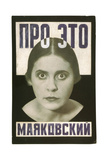 "Cover Design for Poem ""About This"" by Vladimir Mayakovsky Giclee Print by Alexander Mikhailovich Rodchenko"
