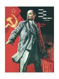 Lenin Lived, Lenin Lives, and Lenin Will Go on Living! Giclée-tryk af Viktor Semyonovich Ivanov