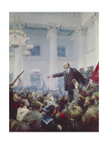 Lenin Proclaims the Soviet Rule Giclee Print by Vladimir Alexandrovich Serov