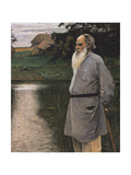 Portrait of the Author Leo N. Tolstoy (1828-1910) Giclee Print by Mikhail Vasilyevich Nesterov