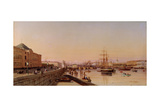 Summer Evening at the Neva Embankment Near the Academy of Arts Giclée-Druck von Pyotr Petrovich Vereshchagin