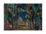 Stage Design for the Ballet Carnaval by R. Schumann Giclee Print by Konstantin Alexeyevich Korovin