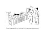 """The two things that really drew me to vinyl were the expense and the inco..."" - New Yorker Cartoon Premium Giclee Print by Alex Gregory"
