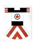 Design for a Sports Costume Giclee Print by Varvara Fyodorovna Stepanova