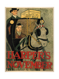 Harper's November Giclee Print by Edward Penfield