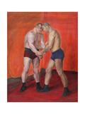 The Wrestlers Giclee Print by Olga Petrovna Vaulina
