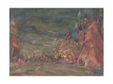 The Polovtsian Camp Giclee Print by Konstantin Alexeyevich Korovin
