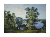 View of the Large Pond in the Park in Tsarskoye Selo Giclee Print by Semyon Fyodorovich Shchedrin