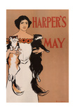 Harper's May Giclee Print by Edward Penfield