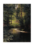 Spring. Forest Stream Giclee Print by Grigori Grigoryevich Myasoedov
