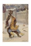 Bear Baiting at the Time of Tsar Feodor I of Russia Giclee Print by Viktor Mikhaylovich Vasnetsov