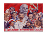 Long Live the Komsomol Generation! Giclee Print by Naum Pavlovich Karpovsky