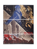 Movie Poster October Giclee Print by Georgi Avgustovich Stenberg