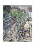 The Boulevard De Sébastopol in Paris Giclee Print by Konstantin Alexeyevich Korovin
