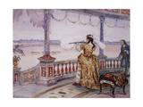 Empress Anna Ioannovna at the Deer Hunting in Peterhof Giclee Print by Vasili Ivanovich Surikov