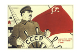 The Captain of the Soviet Nation Pilots Us from Victory to Victory! Giclee Print by Boris Yefimovich Yefimov
