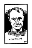 Charles Baudelaire (1821-1867) Giclee Print by Felix Edouard Vallotton