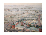 View of the Trinity Lavra of St. Sergius in Sergiyev Posad with the Easter Procession from Moscow Giclee Print