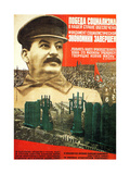 The Victory of Socialism in the USSR Is Guaranteed Giclee Print by Gustav Klutsis