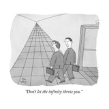 """Don't let the infinity throw you."" - New Yorker Cartoon Premium Giclee Print by Peter C. Vey"