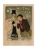 Mothu and Doria. (Scènes Impressionistes) Giclee Print by Théophile Alexandre Steinlen