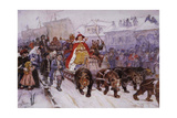Great Moscow Masquerade on 1772 in the Presence of Peter I and Prince Romodanovsky Giclee Print by Vasili Ivanovich Surikov