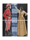 Movie Poster the Eternal Struggle Giclee Print by Georgi Avgustovich Stenberg