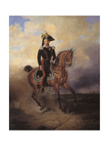 Equestrian Portrait Emperor Nicholas I (1796-1855) Giclee Print by Vasily Timm
