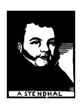Stendhal (Henri Beyle) 1783-1842 Giclee Print by Felix Edouard Vallotton