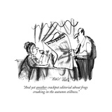 """And yet another crackpot editorial about frogs croaking in the autumn sti…"" - New Yorker Cartoon Premium Giclee Print by Donald Reilly"