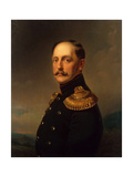 Portrait of Emperor Nicholas I (1796-1855) Giclee Print by Horace Vernet