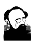 Émile Zola (1840-1902) Giclée-Druck von Felix Edouard Vallotton