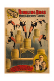 Ringling Bros, World's Greatest Shows Raschetta Brothers, Marvelous Somersaulting Vaulters Giclee Print