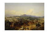 The Battle at Bashkadyklar on November 19, 1853 Giclee Print by Gottfried Willewalde